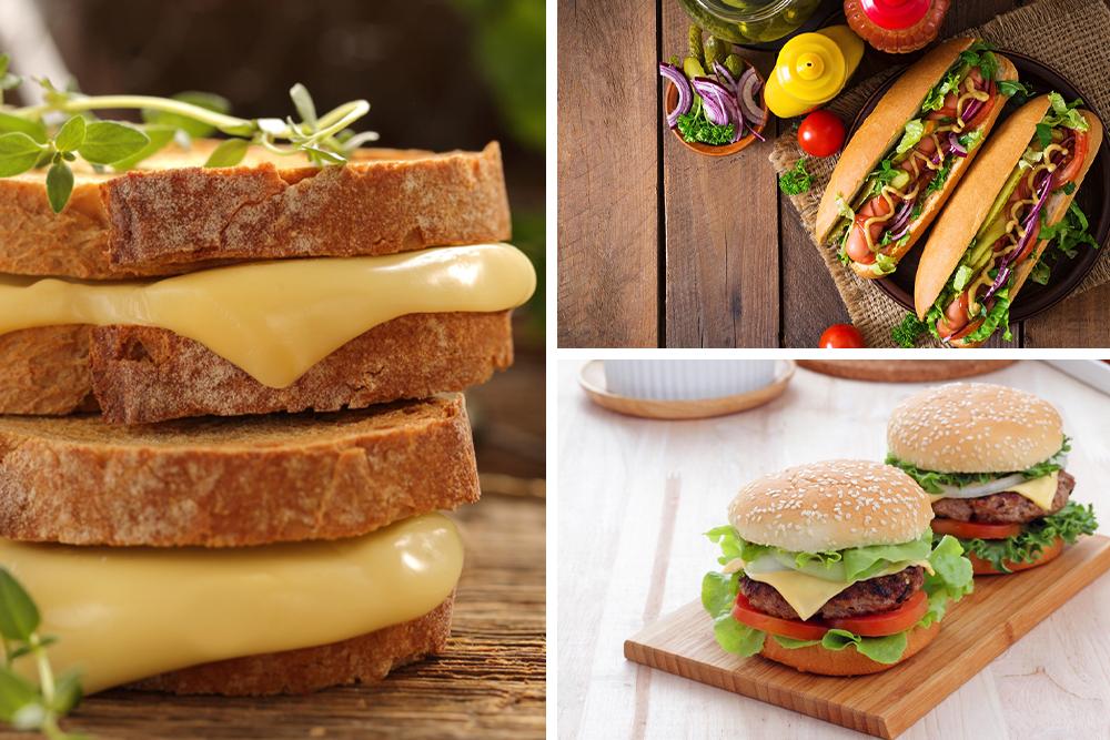 خبز التوست / خبز البرجر / ساندوتش رول / خبز لبناني